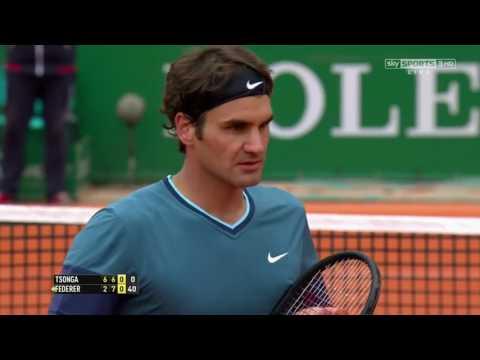 Roger Federer v. Jo Wilfried Tsonga | Monte Carlo 2014 QF Highlights HD