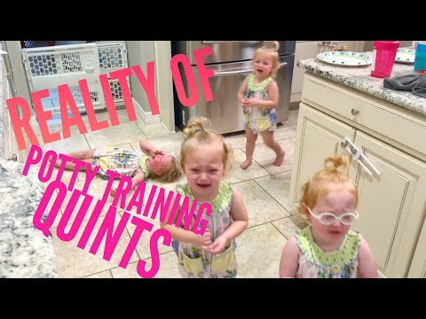 The reality of potty training quintuplets