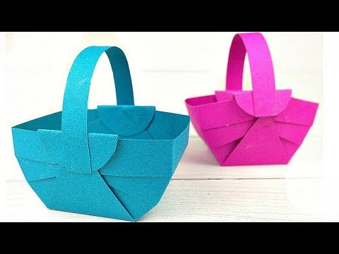 Diy How To Make Easter Flower Basket Decoration Ideas With Paper