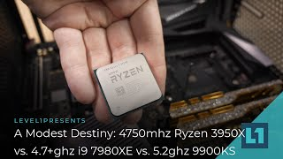 4750mhz Ryzen 9 3950X vs 5.2ghz 9900ks vs 4.7+ghz 7980XE : A Modest Destiny? :D