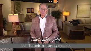 Batte Furniture: Fall Leather Sale
