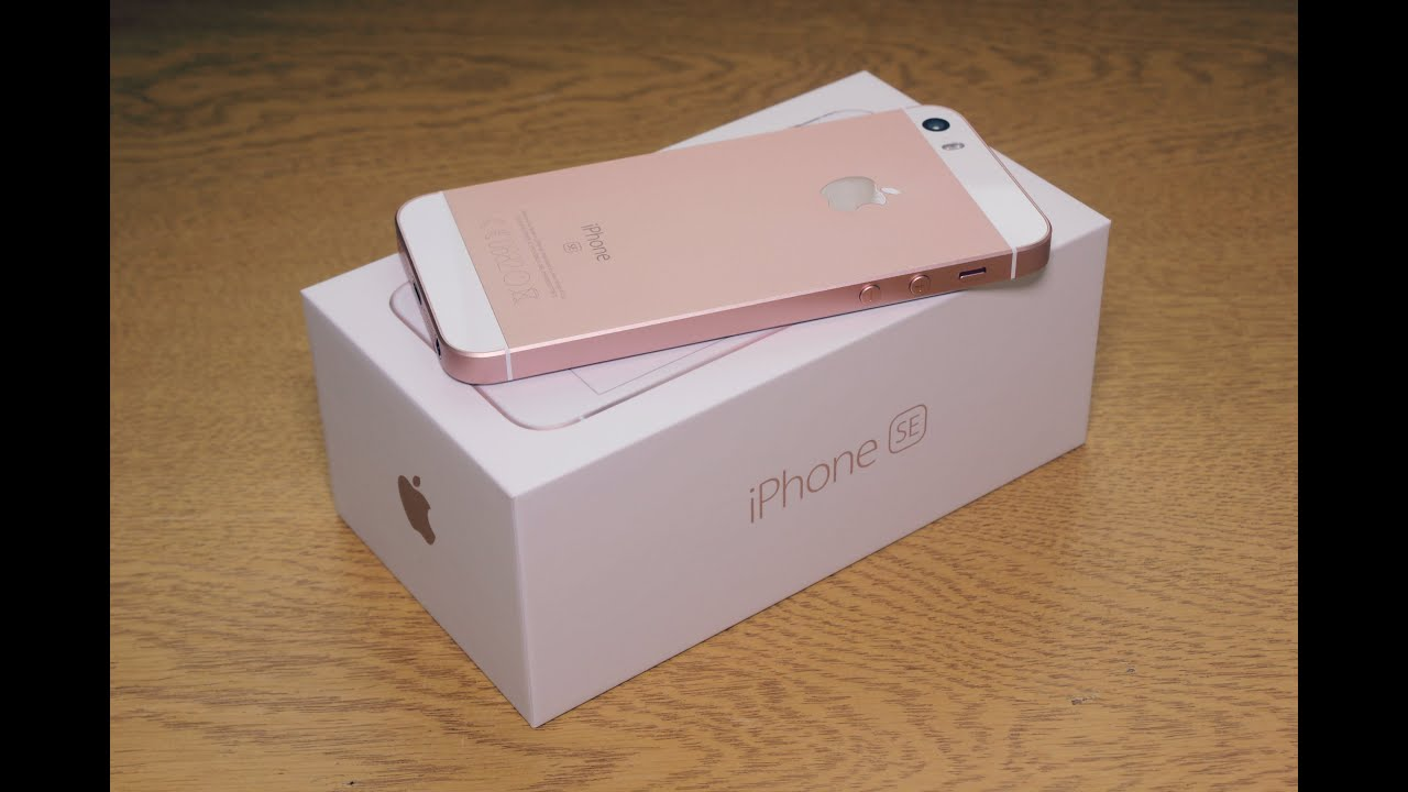apple iphone se rose gold unboxing hd youtube. Black Bedroom Furniture Sets. Home Design Ideas