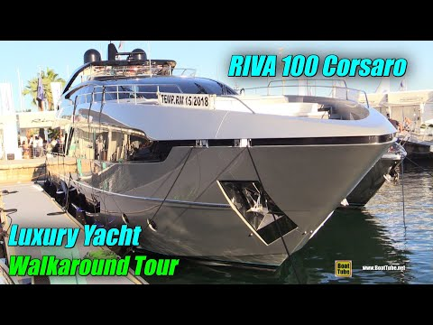 2019 Riva 100 Corsaro Luxury Yacht - Deck and Interior Walka
