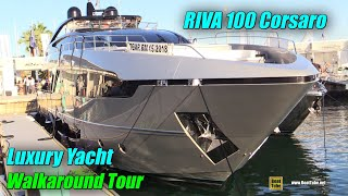 2019 Riva 100 Luxury Yacht - Deck and Interior Walkaround - 2018 Cannes Yachting Festival