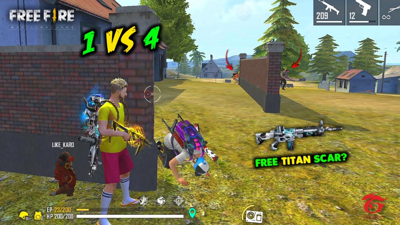 Titan Scar with Solo vs Squad Ajjubhai94 OverPower 24 Kill Gameplay - Garena Free Fire