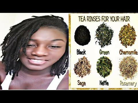 Stimulating Herbal Tea Rinse on Locs