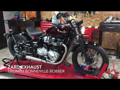Zard Exhaust Triumph Bonneville Bobber Moto Trio Youtube