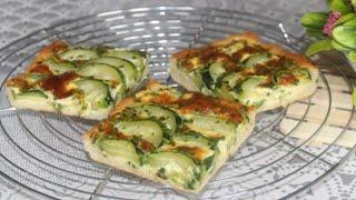 Tarte aux courgettes / Un repas   léger et facile à faire / Recette parfaite pour ces jours-là !!