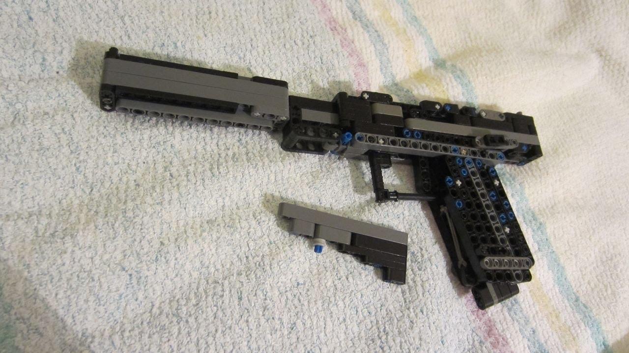 Lego Pistol Instruction Upgraded Youtube