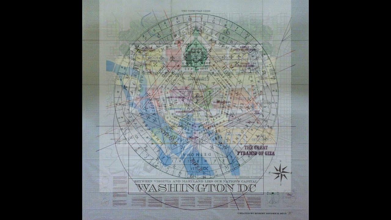 Secrets Of The Vitruvian Code The Fifth Element YouTube - Washington dc map conspiracy