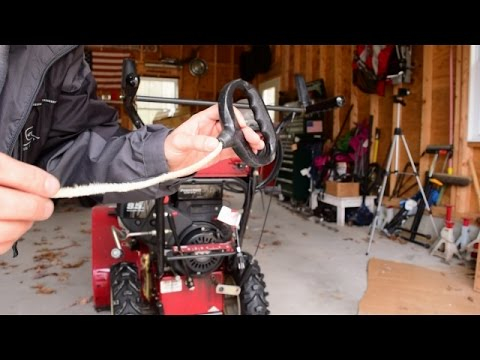 How To Change Fix Broken Pull Start Pull Cord Pull String