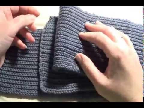 шарф английской резинкой Youtube