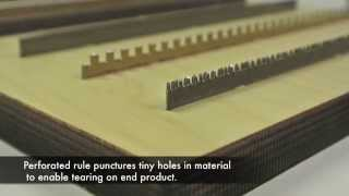Perforated Rule for Die Cutting