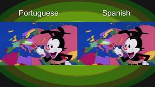 Another comparison but it's Spanish and Portuguese now.