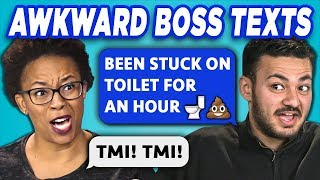 ADULTS READ 10 AWKWARD BOSS TEXTS (REACT)