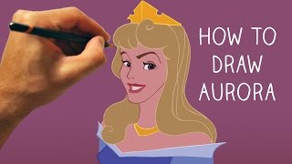 How to Draw Princess Aurora from Sleeping Beauty - Step by Step - Narrated