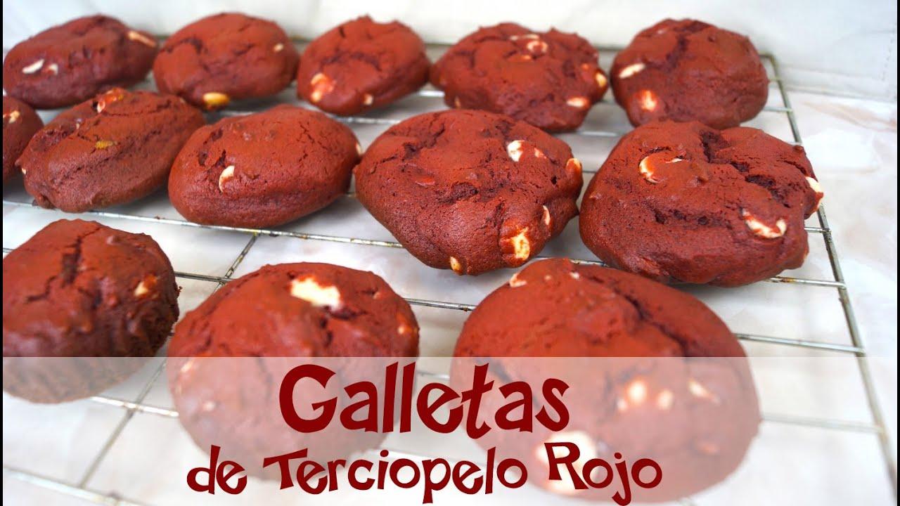 Galletas de Terciopelo Rojo con Chispas de Chocolate - Mi Cocina ...