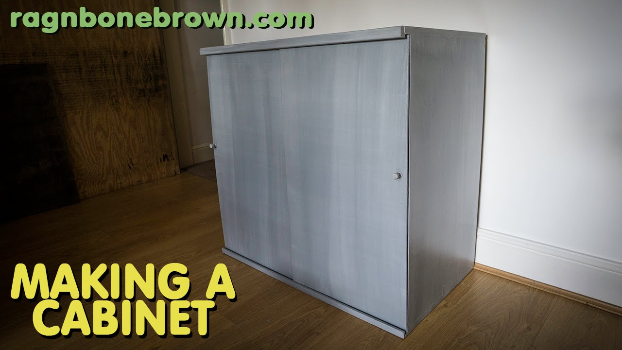 Making A Cabinet With Sliding Doors   YouTube