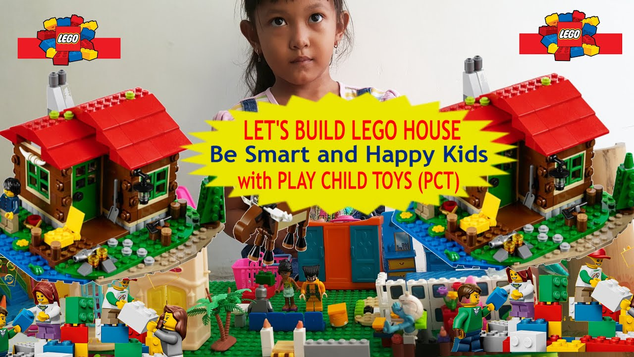 KIDS TOYS HOUSE BUILD LEGO BE SMART KIDS WITH PCT TOYS