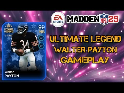 Madden 25 Ultimate Team | Ultimate Legend Walter Payton Review + Gameplay MUT 25