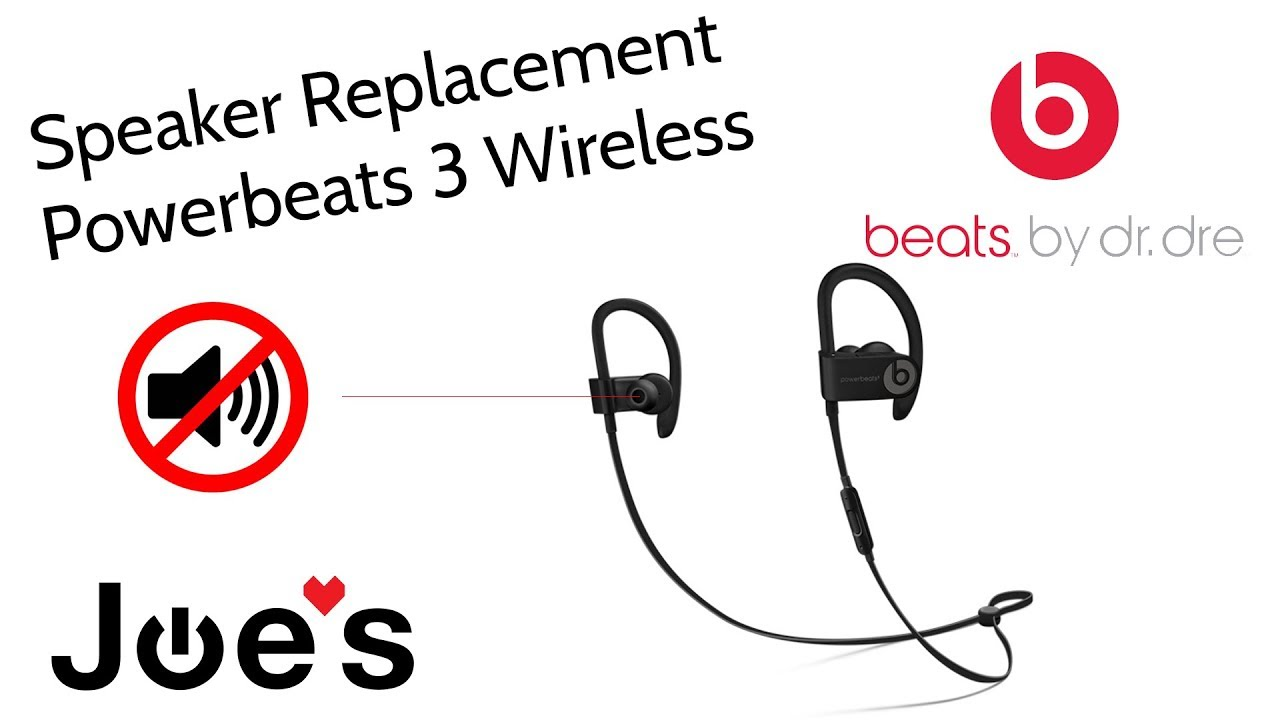 how to replace blown speaker beats by dre powerbeats 3 speakers left or right joesge [ 1280 x 720 Pixel ]