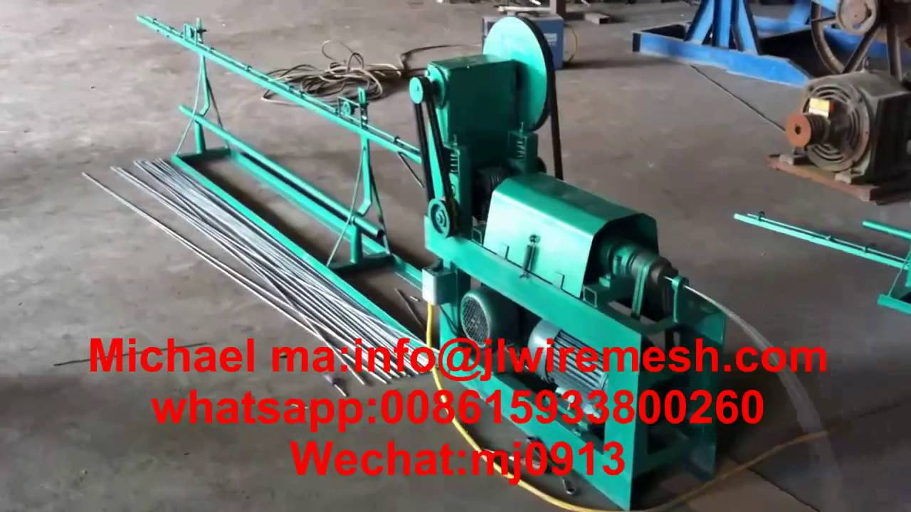 automatic wire straightening and cutting machine - YouTube