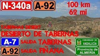100 Km - Desierto De Tabernas (N-340a / A-92) Almería / Tabernas Desert , Southwest Of Spain