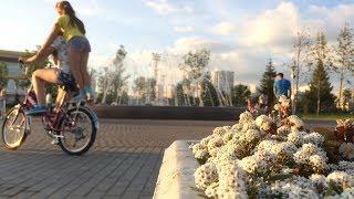 Фонтан в парке УГМК
