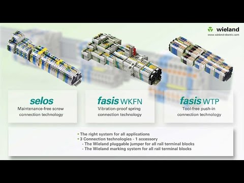 Wieland new DIN rail terminal blocks US YouTube