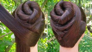 everyday collage, office girl hairstyle | juda hairstyle | simple girl hairstyle | Quick hairstyle |