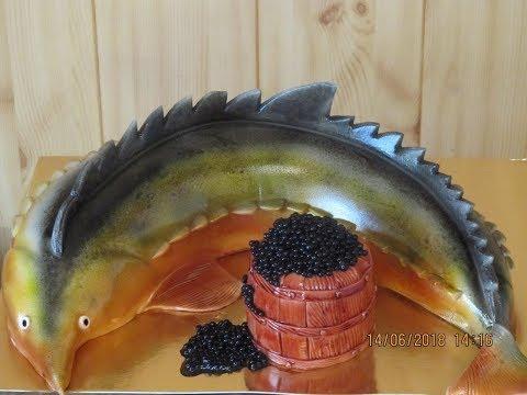 Как собрать торт рыбу