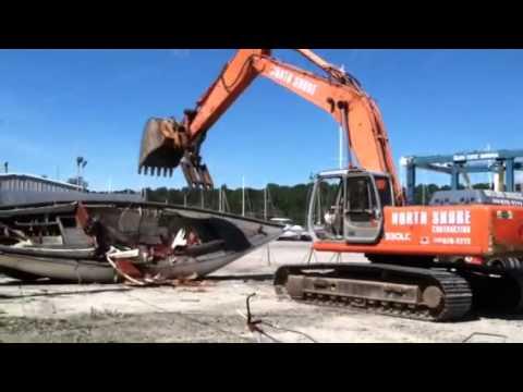 Boat yard demolition