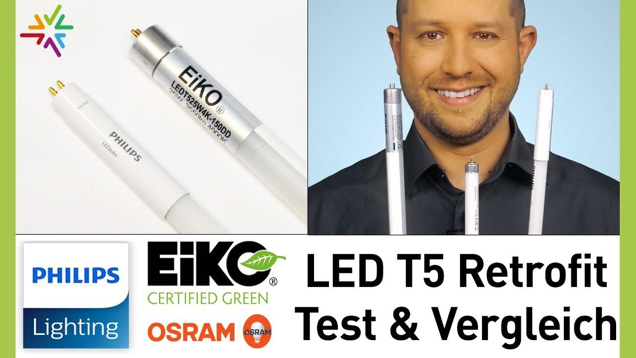 T5 LED Röhren Test Philips vs. Eiko vs. Osram Leuchtstofflampe – die beste LED Lampe zur Umrüstung