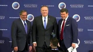 CIA director Mike Pompeo at Reagan National Defense Forum 2017. Simi Valley, California  Dec 2,