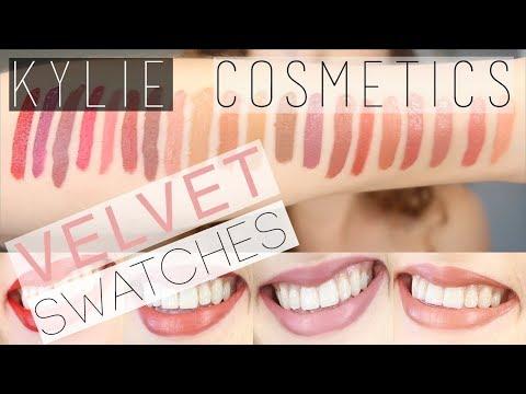 Kylie Cosmetics   VELVET Swatches on FAIR SKIN   SAVAGE + BOY BYE + RED VELVET + MANY MORE!