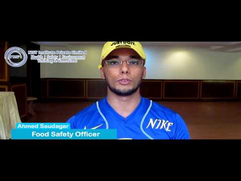 Testimonial - CIEH Food Safety & HACCP By  Ahmed Saudagar, Food Safety Officer