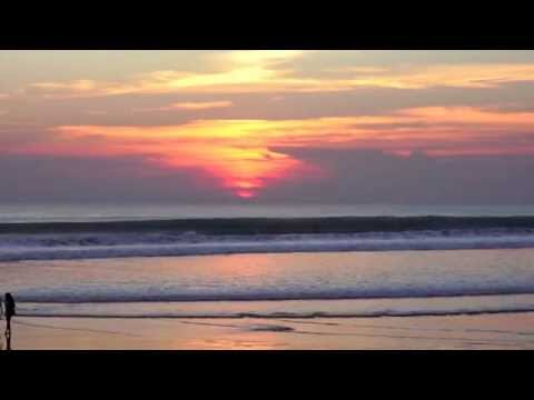 Relax 1.5 Hours - Relaxing Nature Sounds - BALI KUTA BEACH INDONESIA, 4~6PM AND SUNSET