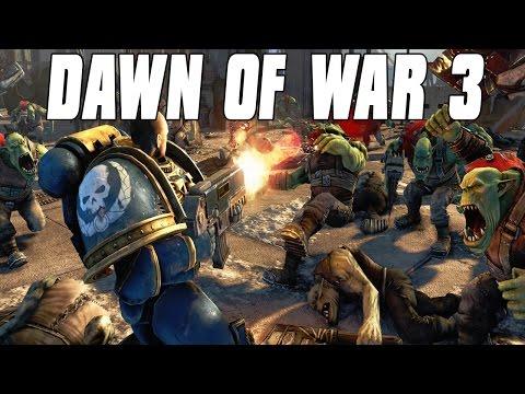 Dawn of War 3 Open Beta Multiplayer Space Marine Destruction 3v3 Gameplay