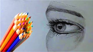 Как нарисовать ГЛАЗА КАРАНДАШОМ! Учимся рисовать ГЛАЗА Простым Карандашом! Как Научиться РИСОВАТЬ