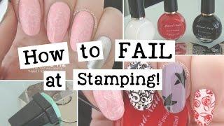 How To FAIL At Stamping   Nail Art Tutorial   Nailed It NZ