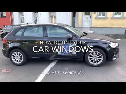 How to tint your car windows with CFC Car film Audi A4/S3 Sportback DIY