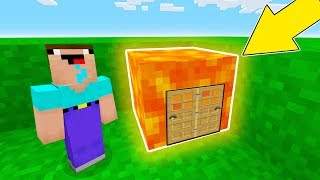 Minecraft Battle - NOOB vs PRO : NOOB BUILT SECRET LAVA HOUSE IN ONE BLOCK !? (Animation)