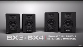 M-Audio || Introducing the BX3 & BX4 120-Watt Multimedia Monitors