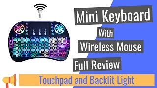Remote Control for YouTube Black Wireless Mini Keyboard /& Mouse Easy Control Browser for JVC/LT-49C790 49