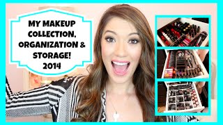 Makeup Collection, Storage & Organization + Nails, Hair and Skin Products! {Updated 2014} Thumbnail