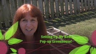 Pop-up Greenhouse and My Square Foot Garden