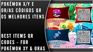 Pokémon X/Y e OR/AS CÓDIGOS QR Os melhores itens / Já não funcionam