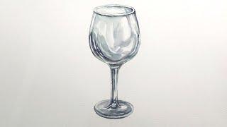 초보를 위한 와인잔 그리기, Wine Glass Wat…