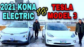 2021 Hyundai Kona Electric Better than my Tesla Model 3? (Full In-depth Review \u0026 Comparison)