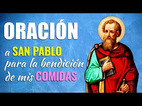 🙏 Oración Poderosa a San Pablo Para BENDECIR NUESTROS ALIMENTOS Antes de Comer 🍔